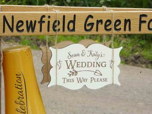 Wedding sign, Midlands venue