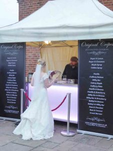 Bride at crepe van midlands