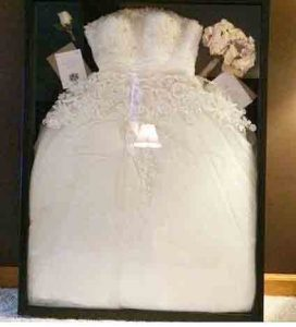 Wedding dress in a frame