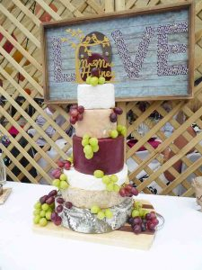 Cheese wedding cake.